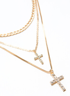 Cross Reference Jeweled 3-Necklace Set