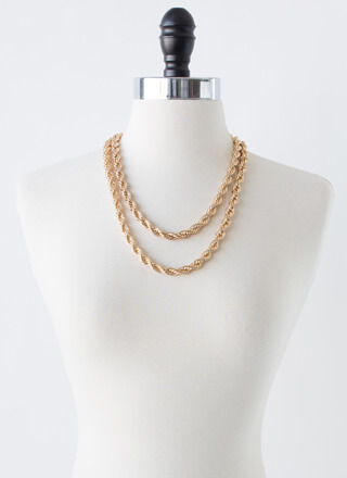 Learn French Rope Chain Necklace Set