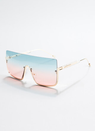 See Below Squared Ombre Sunglasses