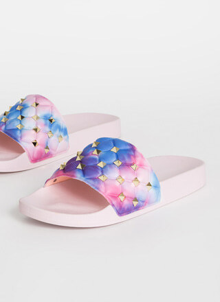 Stud Search Tie-Dye Slide Sandals