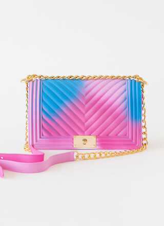 Spray Paint Airbrushed Chevron Purse