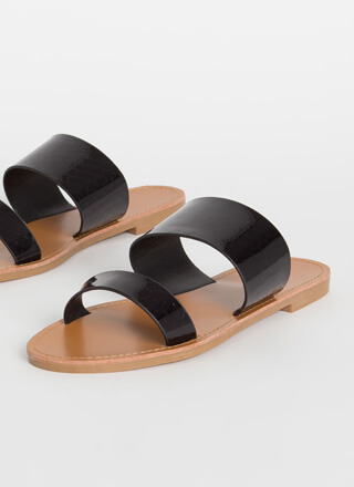 Fish Scale Out Of Water Slide Sandals