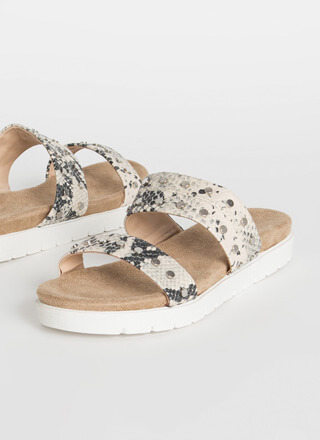 Let's Snake On It Studded Slide Sandals
