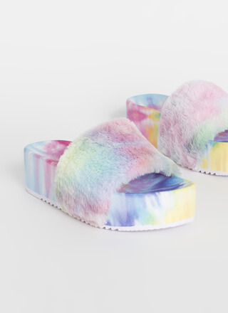 All Fur You Thick Platform Slide Sandals