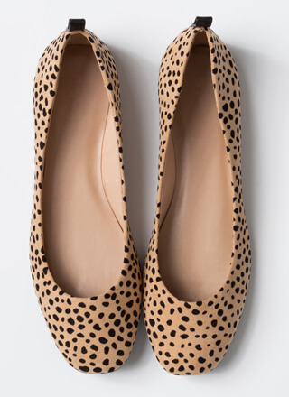 Stay Cute Spotted Cheetah Ballet Flats