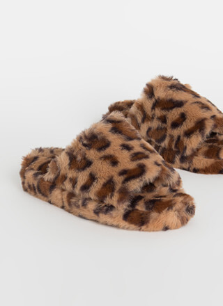 Call Me Fluffy Faux Fur Slide Sandals