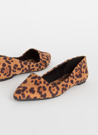 Leaping Leopards Almond-Toe Flats