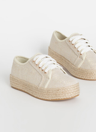 Vacay Braided Linen Platform Sneakers