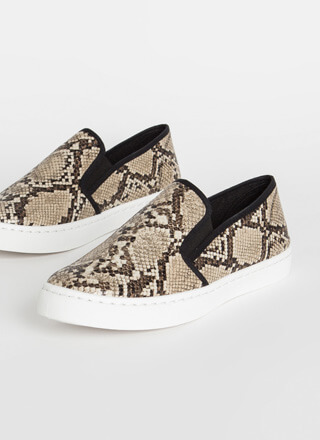 Just For Kicks Snake Slip-On Sneakers