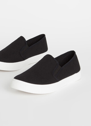 Just For Kicks Canvas Slip-On Sneakers