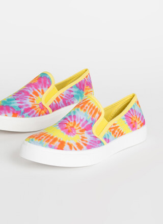 Just For Kicks Tie-Dye Slip-On Sneakers