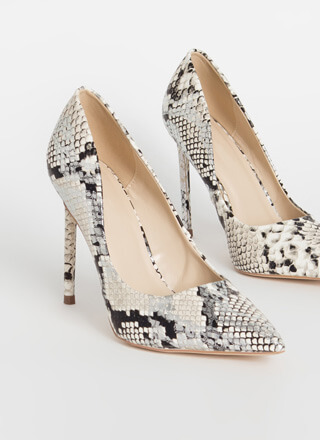 Snake Out Pointy Stiletto Pumps