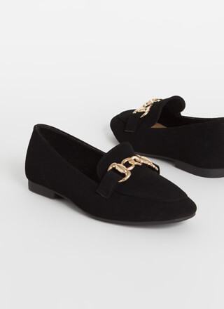 Chain Smoking Faux Nubuck Flats