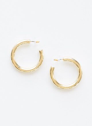 Way Tube Cute Partial Hoop Earrings