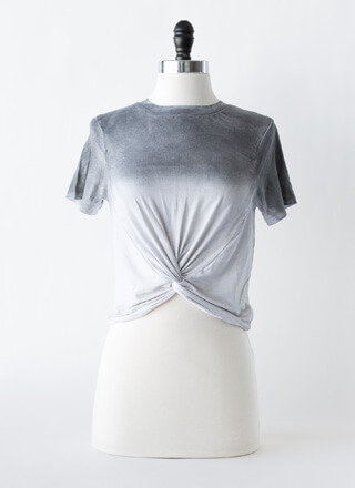 Take A Dip-Dye Twist-Front Top