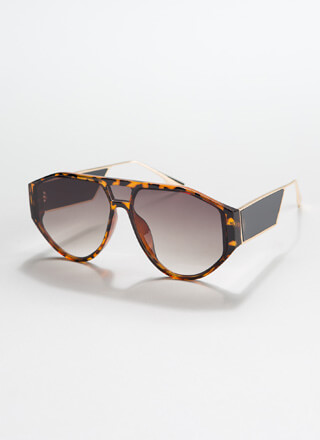 Side Piece Round Cut-Out Sunglasses