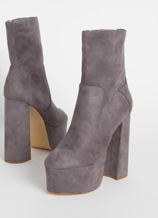 Take Me Higher Chunky Platform Booties