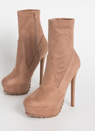 I Lug You So Much Faux Suede Booties