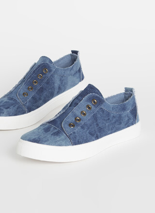 Unfinished Business Denim Sneakers