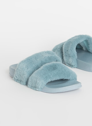 My Soft Side Faux Fur Slide Sandals