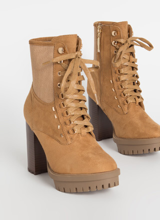 Rugged Chic Chunky Lug Sole Booties