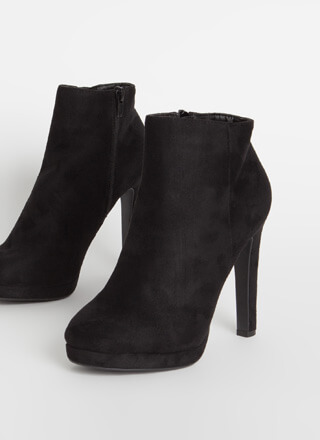 Simply Perfect Faux Suede Booties