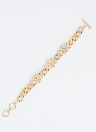 Bee Plus Jeweled Chain Bracelet