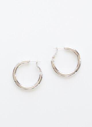 Ride The Tube Gold-Dipped Hoop Earrings