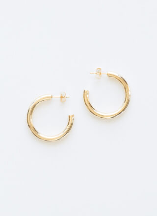 Ride The Tube Gold-Dipped Partial Hoops