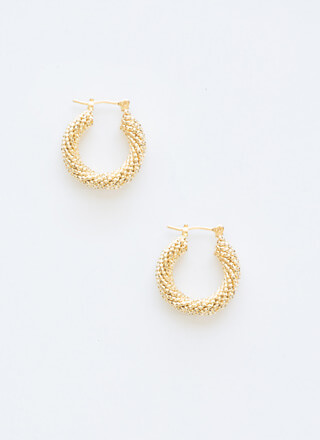 Small Popcorn Textured Hoop Earrings