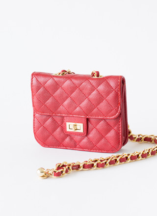 Chain-ge Quilted Crossbody Mini Purse