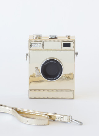 Steal The Spotlight Retro Camera Clutch