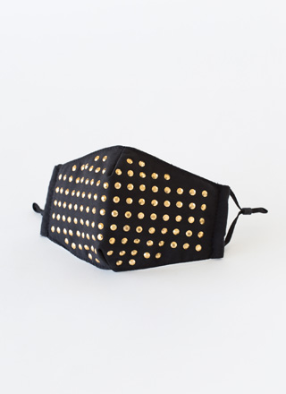 Fashion Statement Studded Face Mask