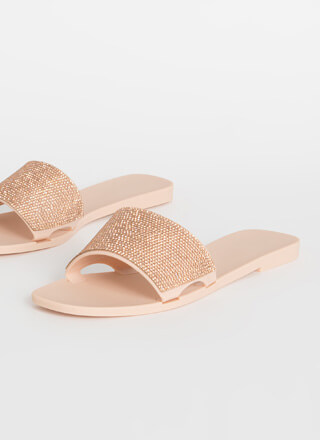 Glam Me Up Rhinestone Slide Sandals