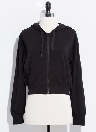 Basic Need Zip-Up Hooded Jacket