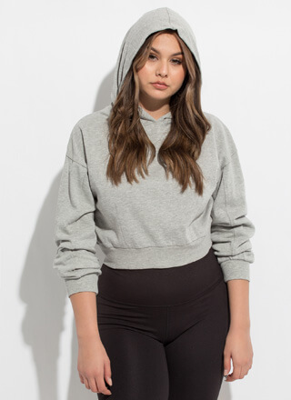 Basic Need Cropped Hooded Sweatshirt
