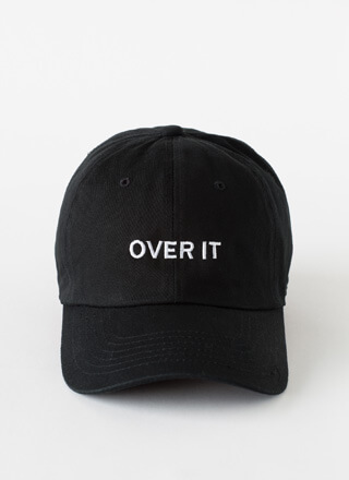 Over It Embroidered Cotton Cap