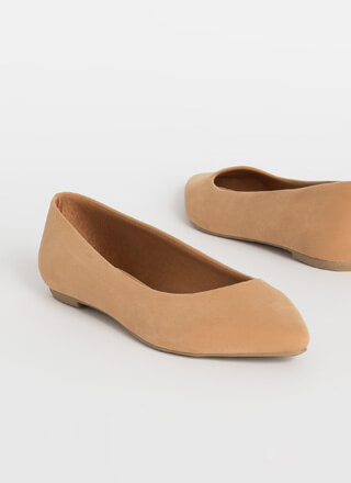 Down To Earth Almond Toe Ballet Flats