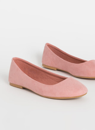 Round Up Faux Suede Ballet Flats