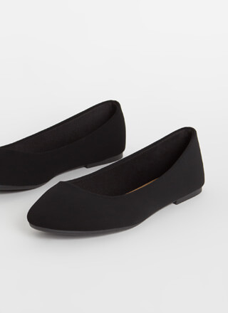 Round Up Faux Nubuck Ballet Flats