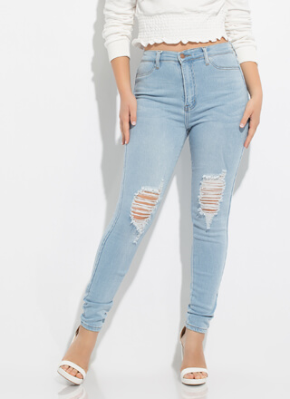 Kneed To Know Distressed Skinny Jeans