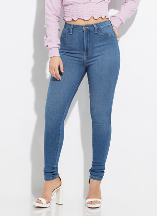 Forever Yours High-Waisted Skinny Jeans