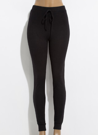 Joggers Rejoice Rib Knit Leggings