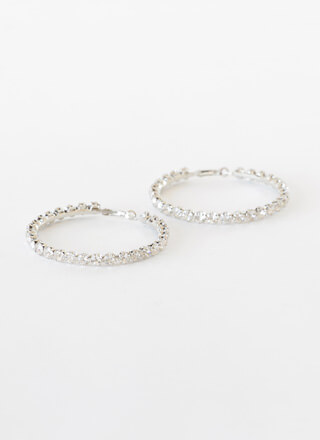 Bling On The Glam Jeweled Hoop Earrings