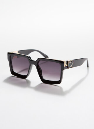 Square Off Thick-Rimmed Sunglasses