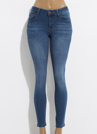 Just The Ticket Mid-Rise Skinny Jeans