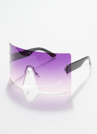 What A Stud Oversized Shield Sunglasses