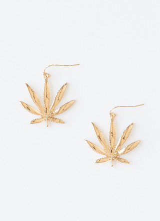 Mary Jane's Dangling Leaf Earrings