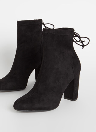 Give It A Tie Chunky Drawstring Booties