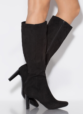 Just Right Faux Suede Knee-High Boots